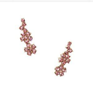 NWT Kate Spade Crystal Flower Climber Earrings
